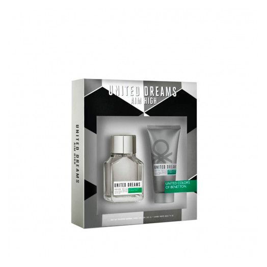 BENETTON UNITED DREAMS Aim High Mens Gift Set (EDT 100Ml + After Shave 75Ml)